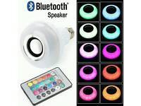 Wireless Bluetooth Speaker RGB led bulb.