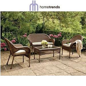 NEW* HOMETRENDS 4PC PATIO SET FWS80521AST 209601395 ARYA CONVERSATION PATIO FURNITURE