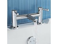 NEW Chrome Basin Sink Mixer Tap with Bath Filler