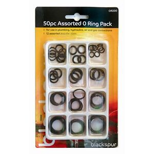 50PC ASSORTED O RING SET PACK PLUMBNG DIY TAP SINK WASHERS RUBBER CAR SEALS AIR