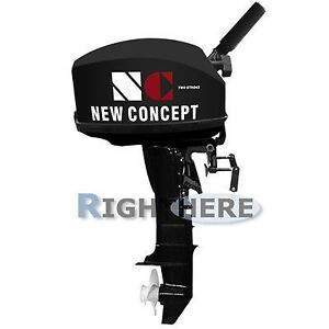 New 15HP Inflatable Boat Outboard Motor 2 Stroke Engine Long Shaft