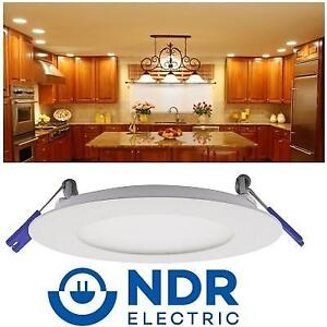 """NEW SLIM RECESSED LED DOWNLGHT RZR-400-9W-3K-WH 183019637 9W 3000K NDR ELECTRIC 4"""" MODULE ULTRA THIN DIMMABLE"""