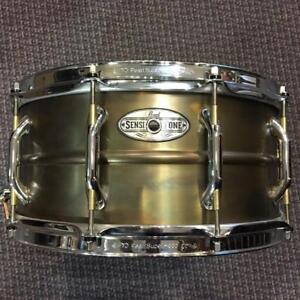 Pearl Sensitone Premium 14x6.5 Inch Snare - Beaded Brass - used/usagé