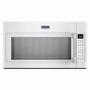 30'' white over-the-range microwave oven, Maytag