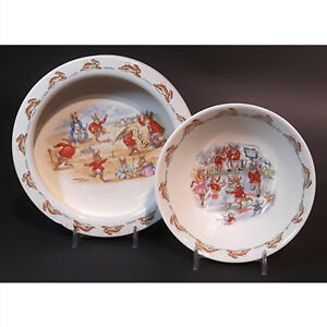 Royal Doulton Bunnykins Barbara Vernon 2 Piece Set
