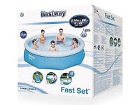 Bestway Fast Set Round Inflatable Pool 8ft x 26'' 2.44m x 66cm