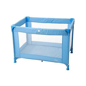 Red Kite Sleeptight Travel Cot - blue - used once, new condition