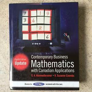 Contemporary Business Mathematics with Canadian Applications Cornwall Ontario image 1