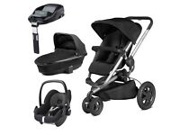 Quinny Buzz Xtra 3 in 1 Travel System in Black **Brand New**