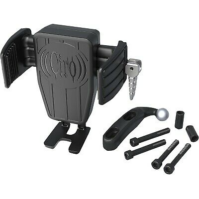 Ciro 52311 Cybercharger Phone Holder with Wireless Fast Charger w/ Black Mount
