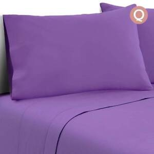 4 Piece Microfibre Sheet Set Queen  Purple Sydney City Inner Sydney Preview