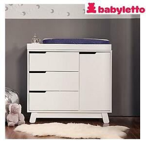 NEW BABYLETTO WHITE CHANGING TABLE HUDSON - 3 DRAWERS AND 1 CABINET 104121707