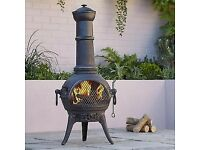 outside cast iron log burner £50