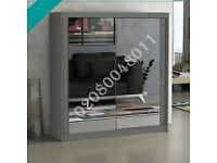 🌟 Beautiful Amazing sliding door mirrored wardrobe in many options with Express Delivery 🚚