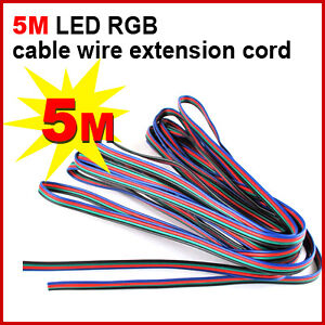 LED RGB cable wire extension cord for LED RGB Stripe,UK dispatch