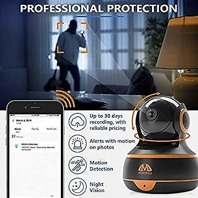 [New 2019] FullHD 1080p WiFi Home Security Camera Pan/Tilt/Zoom - Best Rated (Best Spy Camera 2019)