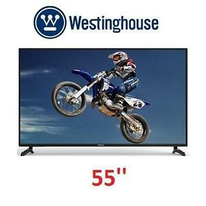 NEW OB WESTINGHOUSE 55'' SMART TV - 107697895 - ULTRA HD - BUILT-IN WiFi - BUILT-IN APPS - 55 INCH TV