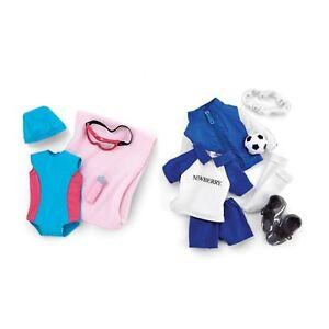 """Newberry Soccer + Swimming set for 18"""" Dolls like American Girl"""
