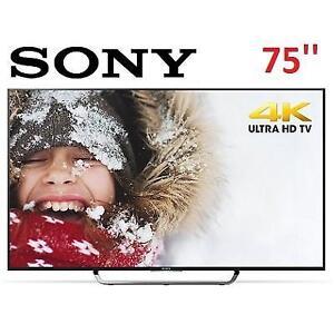 REFURB SONY 75'' 3D 4K ULTRA HDTV XBR75X850C 133810632 SMART 120 Hz 2015 MODEL XBR75X850C