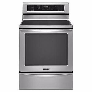 """30"""" Stainless stove Convection Induction Self-Clean KitchenAid"""