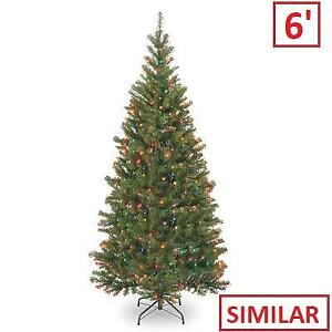 NEW 6' SPRUCE CHRISTMAS TREE NRV7-301-60 212417547 National Tree Company Artificial Multicolor Lights Pre-lit