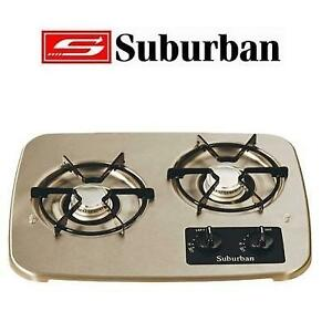 NEW SUBURBAN 2 BURNER RV COOKTOP 2937AST 226801726 FOR RVs STAINLESS