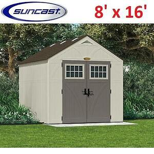 NEW SUNCAST TREMONT SHED 8'x16' BMS8160 181194182 STORAGE STRUCTURE SHED PATIO