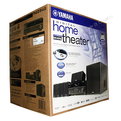Yamaha digital home theater system 5 1 channel 7 pc home for Yamaha 7 2 home theatre system