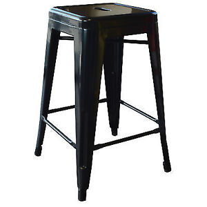 Amerihome Bs24blks Loft Black 24 Inch Metal Bar Stool Ebay