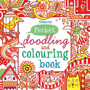 Pocket-Doodling-and-Colouring-Book-Red-Book-Usborne-Art-Ideas-Fiona-Watt-Ve