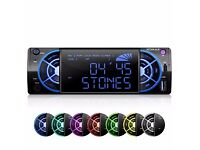 XOMAX XM-RSU234 FlashXO USB SD Autoradio without CD drive with 7 lighting colors