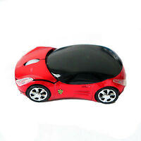 For Sell 3D Wireless Optical Car Shaped Mouse Mice USB For PC la