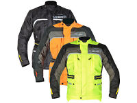 GMAC PILOT MOTORCYCCLE JACKET, FLUORESCENT YELLOW AND ORANGE AVAILABLE ALL SIZES - BE QUICK
