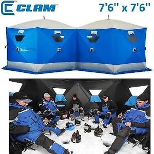 OB CLAM 12 PACK ICE SHELTER 153666 220183934 OPEN BOX 1600 DOUBLE TC 7'6'' x 7'6''