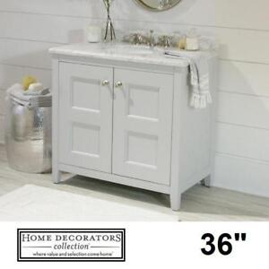 """NEW* HDC UNION 36"""" VANITY COMBO - 127367037 - HOME DECORATORS COLLECTION WHITE CABINET MARBLE TOP VANITIES CABINETS B..."""