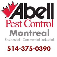 Guaranteed Pest Control services for Montreal/514-375-0390