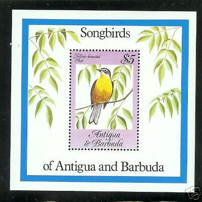 Antigua Barbuda #778 S/S Yellow Breast Chat Song Bird MNH F-VF