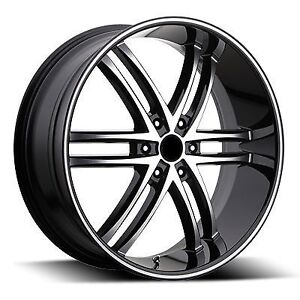 "NEW! 24"" Black/Mach rim/tire f150 chevy 1500 escalade navigator"