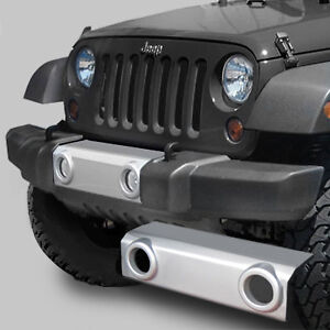 Silver MOPAR Front Bumper Applique for 07-16 Jeep® Wrangler