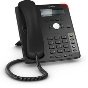 Snom 715 VoIP Phone - 4-Line Monochrome Display - (4) Lines - (5) Programmable LED Keys