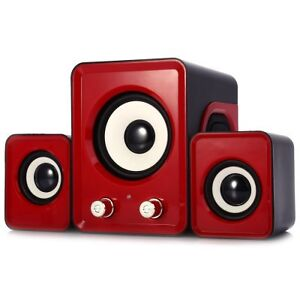 *NEW* 2.1 USB Multimedia Mini Speakers For Computer - Red London Ontario image 2