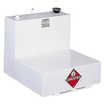 Delta 482000 White Steel 51 Gallon L-Shaped Liquid Transfer Tank