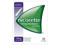 Nicorette 15mg inhalator 36 cartridges - 2 boxes
