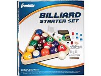 FRANKLIN BILLIARD STARTER SET - NEW!!!