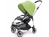 Bugaboo Bee Plus with light green canopy