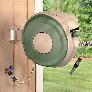 Retractable 100 FT Outdoor Garden Hose Reel | eBay