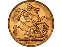 1907 sovereign coin and ring £400 o.n.o