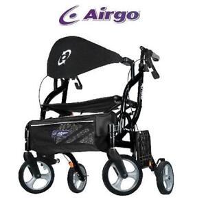 NEW AIRGO FUSION TRANSPORT CHAIR - 125624148 - SIDE-FOLDING ROLATTOR