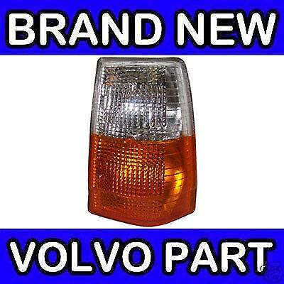 Volvo 740 83-89 Clear Orange Front Indicators Repeaters Set Driver Passenger