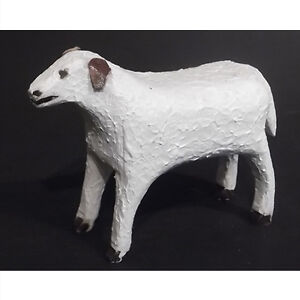 Carved and Painted Figure of a Dog